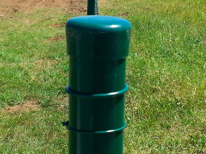 Plotové sloupky - poplastované, zelené